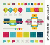 collections of infographics... | Shutterstock .eps vector #189038195