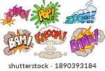 comic book cartoon sound... | Shutterstock .eps vector #1890393184