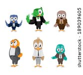 cartoon birds   isolated on... | Shutterstock .eps vector #189039605