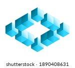 impossible shape. penrose... | Shutterstock .eps vector #1890408631