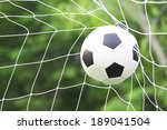 soccer football in goal net | Shutterstock . vector #189041504