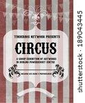 carnival circus retro poster. | Shutterstock .eps vector #189043445