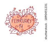 february 14 invitation ... | Shutterstock .eps vector #1890451231