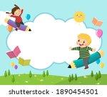 back to school background...   Shutterstock .eps vector #1890454501