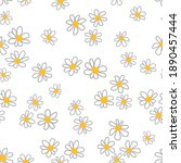 seamless pattern with doodle... | Shutterstock .eps vector #1890457444