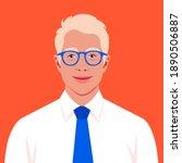 a blond man s face. an avatar...   Shutterstock .eps vector #1890506887
