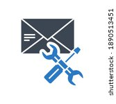 e mail support related glyph...   Shutterstock . vector #1890513451