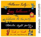 happy halloween | Shutterstock .eps vector #189051395