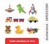 vector image. children's toys... | Shutterstock .eps vector #1890515284