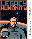 legacy of humanity retro future ... | Shutterstock .eps vector #1890537151