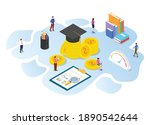 invest in education concept... | Shutterstock .eps vector #1890542644