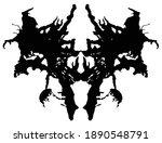 rorschach inkblot test.... | Shutterstock .eps vector #1890548791