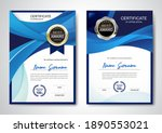 certificate template clean and... | Shutterstock .eps vector #1890553021