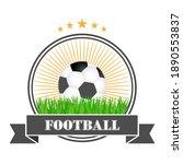 football logo design... | Shutterstock .eps vector #1890553837