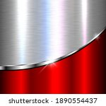 silver red metallic background  ... | Shutterstock .eps vector #1890554437