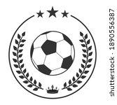 illustration of soccer ball in... | Shutterstock .eps vector #1890556387