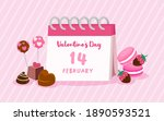 happy valentine's day greeting... | Shutterstock .eps vector #1890593521