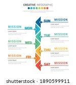 weekly planner  timeline... | Shutterstock .eps vector #1890599911