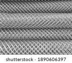 Close Up Roll Of Metal Net....