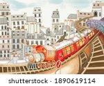 Baby Bright Colorful Train ...