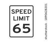 Speed Limit 65 Road Traffic...