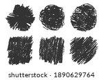 hand drawn grungy textures set. ...   Shutterstock . vector #1890629764