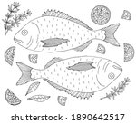 fish dorado with lemon and... | Shutterstock .eps vector #1890642517