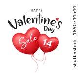 happy valentine's day balloon... | Shutterstock .eps vector #1890714544