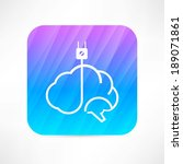 brain icon | Shutterstock .eps vector #189071861