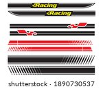 vehicle vector decal stripes... | Shutterstock .eps vector #1890730537