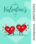 one heart proposes marriage to... | Shutterstock .eps vector #1890732031