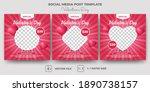 set of editable banner template ... | Shutterstock .eps vector #1890738157