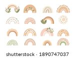 collection cute rainbows with... | Shutterstock .eps vector #1890747037