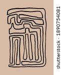 abstract vintage print boho... | Shutterstock . vector #1890754081