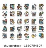 set of coronavirus covid 19... | Shutterstock .eps vector #1890754507