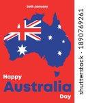 happy australia day greetings... | Shutterstock .eps vector #1890769261