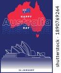 happy australia day greetings... | Shutterstock .eps vector #1890769264