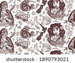 new zealand seamless pattern.... | Shutterstock .eps vector #1890793021