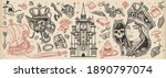 fairy tales old school tattoo... | Shutterstock .eps vector #1890797074