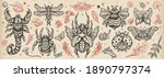 insects old school tattoo... | Shutterstock .eps vector #1890797374