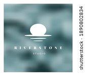 river stone white logo on color ...   Shutterstock .eps vector #1890802834