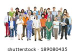 group of multiethnic mixed... | Shutterstock . vector #189080435