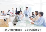 group of multi ethnic corporate ... | Shutterstock . vector #189080594