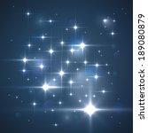 vector glittering stars.... | Shutterstock .eps vector #189080879