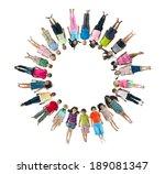 multi ethnic children laying...   Shutterstock . vector #189081347