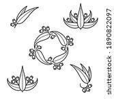 eucalyptus set. collection icon ... | Shutterstock .eps vector #1890822097