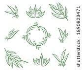 eucalyptus set. collection icon ... | Shutterstock .eps vector #1890823471
