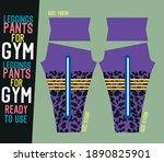 leggings pants vector for gym... | Shutterstock .eps vector #1890825901