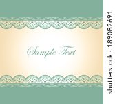 vector vintage card design for... | Shutterstock .eps vector #189082691