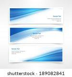 vector set of three header... | Shutterstock .eps vector #189082841